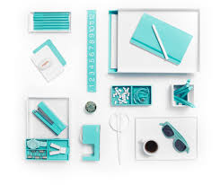 white with pops of aqua is day at the beach poppin desk accessories