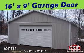 pioneerpolebuildings 16 x 9 garage door by pioneerpolebuildings