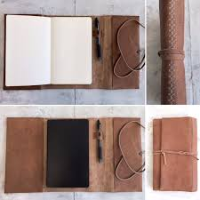 leather note or sketchbook cover moleskine