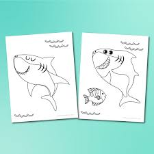 In addition, the kid is carried away and does not bother his mother while she does her business. Shark Printable Coloring Pages