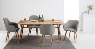 a set of 2 low back dining chairs in manhattan grey and oak