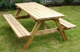 wood picnic table bench heavy duty wooden 6 picnic table bench outdoor beer garden pub round