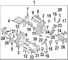 parts com® subaru b9 tribeca rear evaporator oem parts 2006 subaru b9 tribeca limited h6 3 0 liter gas rear evaporator