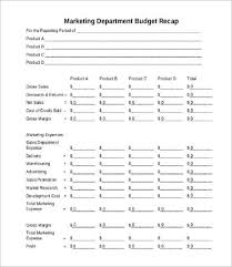 sales department budget template marketing department budget template departmental budget