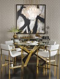 amazing refined dining the sophisticated bold and gold decor features gold dining room chairs remodel