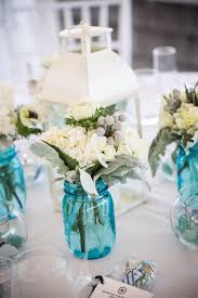 Blue Mason Jars Wedding Decor 60 Best DIY Wedding Centerpieces You Can Make On A Budget Rustic 2