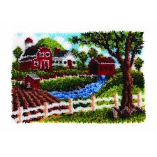 wonderart heritage homestead latch hook rug kit 20