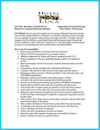 Confortable Sample Resume Bartender Position For Your Job