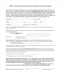 Sample Medical Records Release Form Sample Medical Records Release Form 9 Examples In Pdf Word
