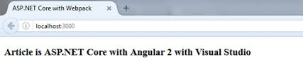 Starting Angular in ASP.NET Core with TypeScript using Visual Studio ...