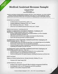 Sample Medical Assistant Resume Fresh Resume For Certified Medical