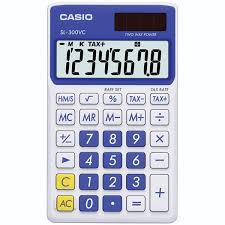 casio sl vc calculator blue schoolmart casio sl 300vc calculator
