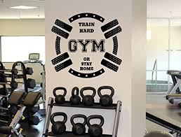 fitness gym motivation wall decal train hard or stay home vinyl sticker home wall art decor on motivational wall art for gym with fitness gym motivation wall decal train hard or stay home vinyl