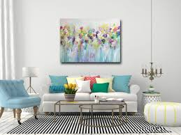 Painting Canvas For Living Room Large Wall Art Canvas Art Abstract Floral Canvas Print Giclee