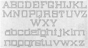 Block Letters On Graph Paper Magdalene Project Org