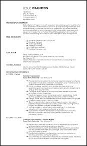 Resume Template Software Free Entry Level Programmer Resume Templates Resume Now