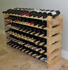 Stackable Wine Rack-72 Bottles Modular Wooden Wine Racks, Very Easy to Put  Together