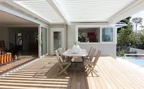 indoor outdoor flow by adding a deck