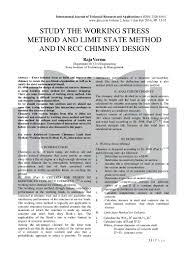 Working Stress Method Of Rcc Design Study The Working Stress Method And Limit State Method And