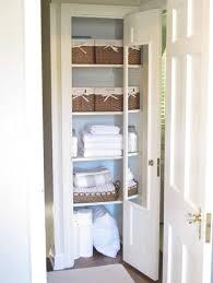 nice white small closet organizer ideas for linen including wicker storage basket