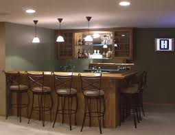 Contemporary Basement Wet Bar Corner Design Ideas Industrial Large With Concept