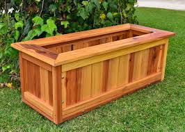 Large Wooden Boxes To Decorate Garden Decor Contemporary Rectangular Wooden Outdoor Planter 44