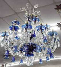 cobalt blue glass crystal chandelier colors blue and white intended for amazing home blue crystal chandelier decor