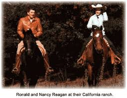 ronald reagan ron and nancy on horseback