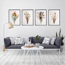 Wall paintings for office Agency 50 Habitrisa Set Art Prints Colorful Wildflowers Wall Art Office Wall Etsy