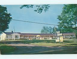 1950 s old cars woodland terrace motel brewer maine me s8463 hippostcard