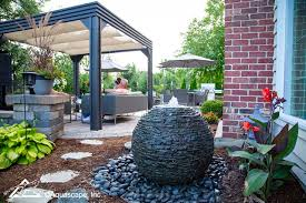 landscape ideas small space water features