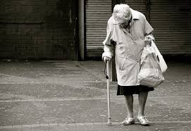 Image result for old lady grocery store