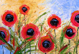 poppy painting abstract modern fl art poppy garden by amy giacomelli by amy giacomelli