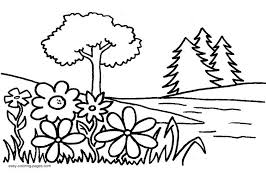 This simple printable coloring sheet for toddlers, preschoolers, or elementary kids in sunday school. Garden Coloring Page Images For Kids Coloring Home