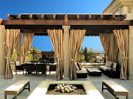 Image of: diy outdoor canopy curtains
