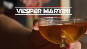 vesper martini how to drink