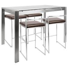 Glass Metal Table White Height Legs Home Restaurant Granit Licious