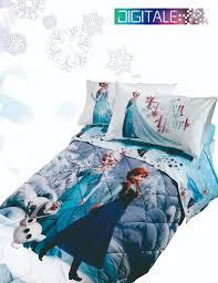 Completo copripiumino letto singolo disney frozen neve di caleffi