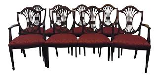 Stickley Shield Back Dining Chairs Set Of  Chairish - Shield back dining room chairs
