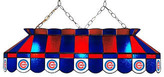 stained glass pool table lighting lamp cubs traditional light fixture
