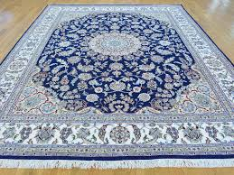 bold design ideas navy oriental rug magnificent 8 x 10 navy blue wool and silk nain