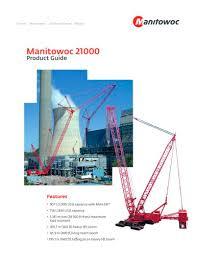Manitowoc 2250 Load Chart 21000 Max Er Manitowoc Cranes Pdf Catalogs Technical