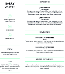 Short Cv Templates Free Dynamic Cv Templates Land The Job With Our Word Templates
