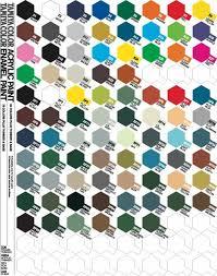 Samurai Spray Paint Colour Chart Tamiya Paint Colour Charts Enamel Acrylic