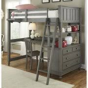 kids bunk bed with desk. Delighful Desk NE Kids Lake House Twin Loft Bed With Desk And Shelf In Stone And Bunk With