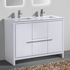 gray double sink vanity. bosley 48\ gray double sink vanity