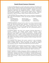 7 Resume Summary Statement Examples Appeal Leter Phd With Exec Sevte