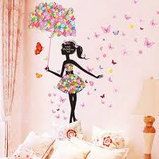 erfly flowers girls room decoration diy wall sticker wallpaper art decal home mural
