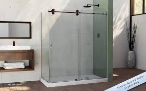 glass sliding shower doors frameless for new ideas frameless sliding glass shower door shower doors bathroom