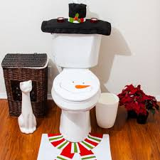 cool 3pcsset elfin style toilet seat cover and rug bathroom set